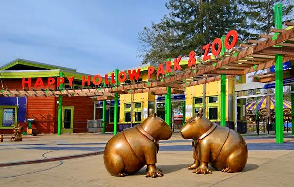 Happy Hollow Park & Zoo entrance (image from the Los Angeles Times)
