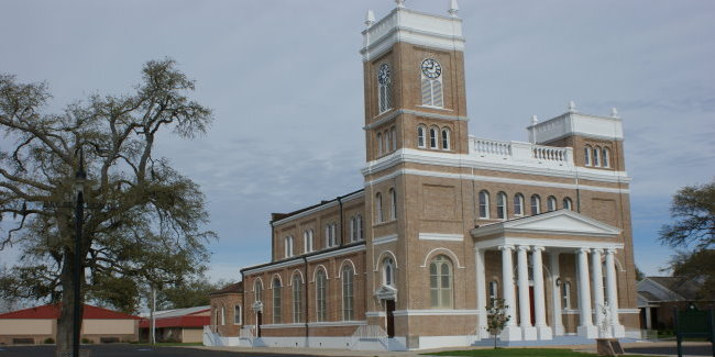 Construction for this version of Our Lady of the Gulf Church began in 1908.