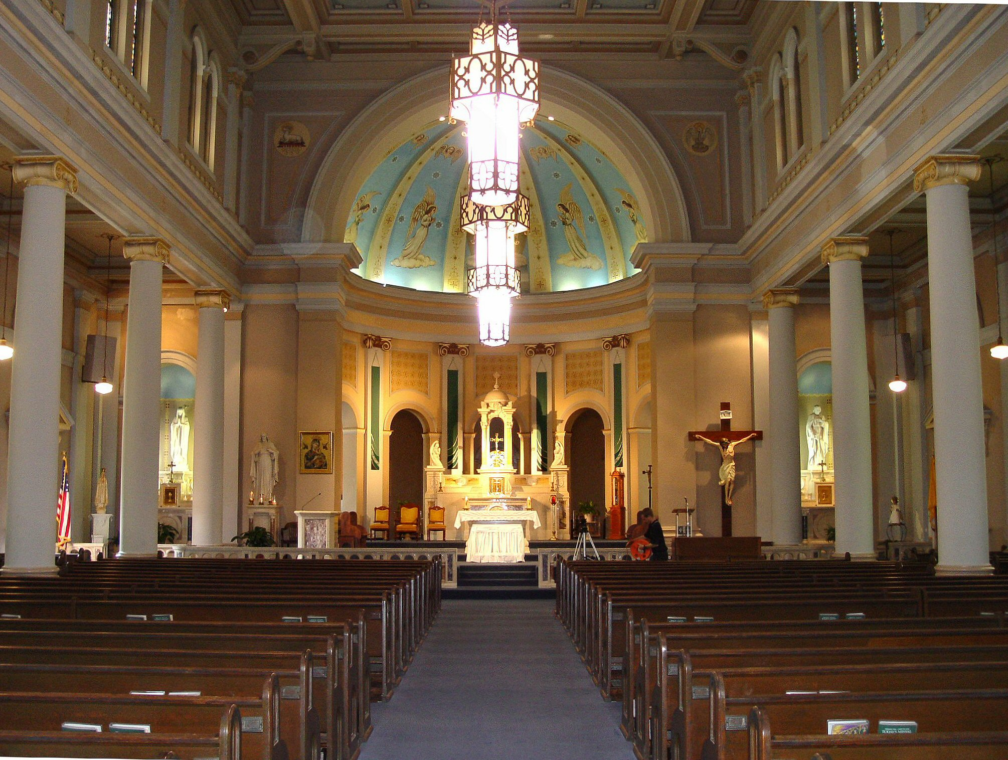 View inside the church.
