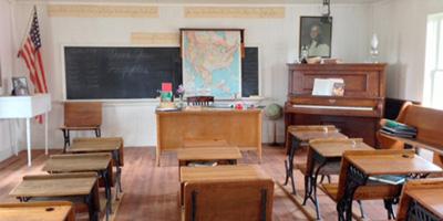 Restored interior of the school