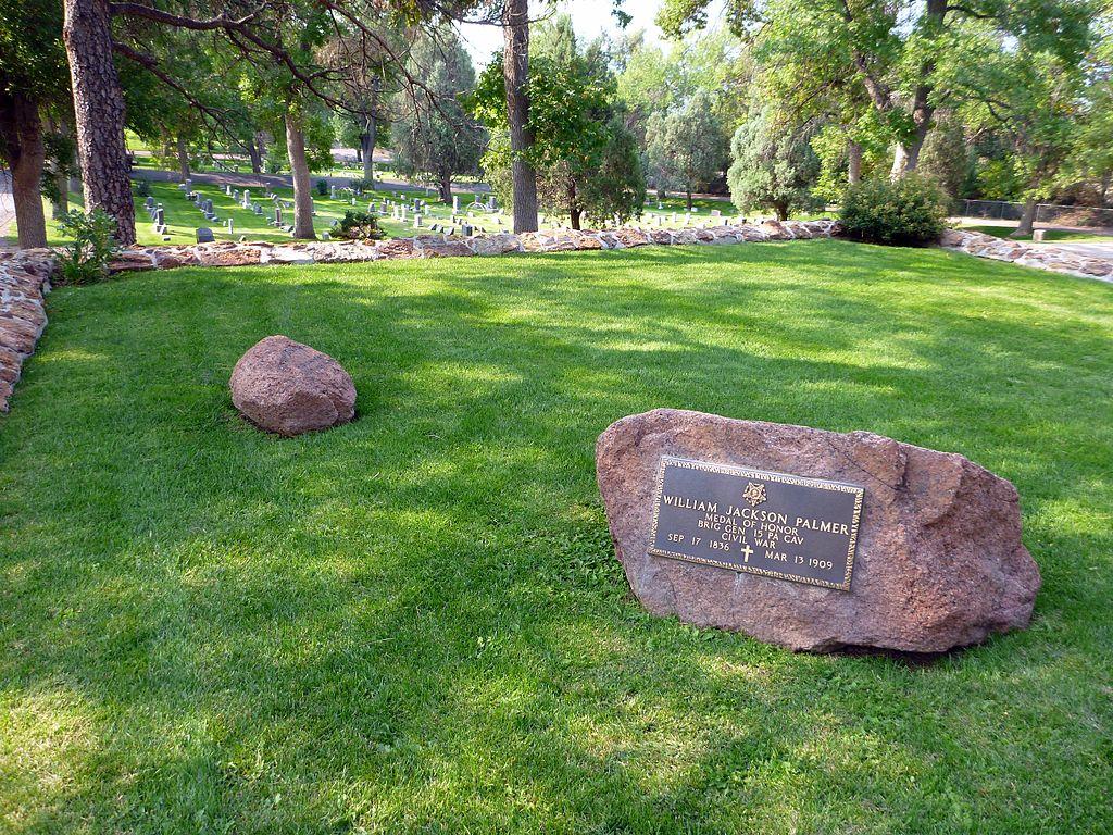 General William Palmer gravesite in Colorado Springs Evergreen Cemetery