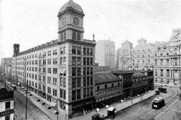 Wanamaker's as it transitioned from the Grand Depot to a 12-story department store.