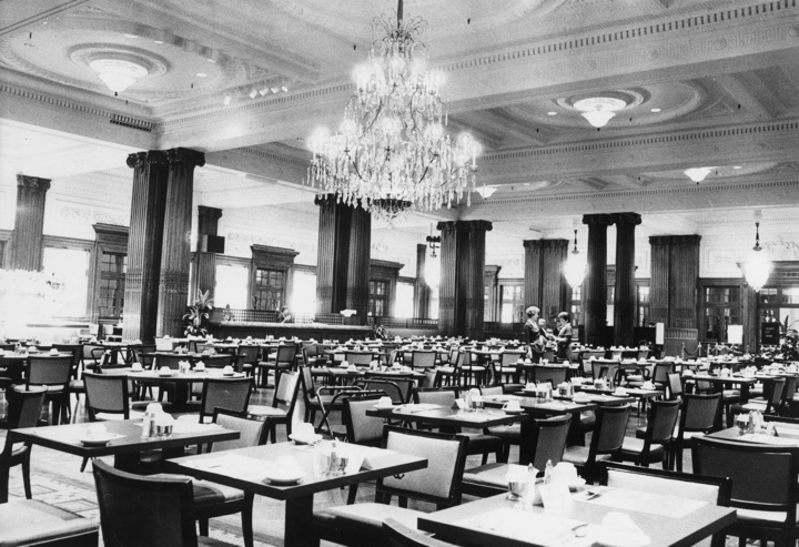Wanamaker's was also known for its Crystal Tea Room, the first restaurant within a department store.  It graced the building's ninth floor for years.