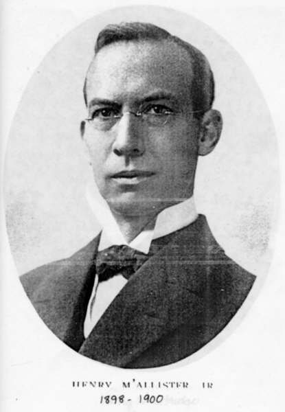William McAllister circa 1898-1900. His land donation made the hall possible