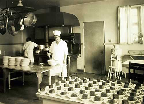 Early 1900s photo of the Nursery's kitchen