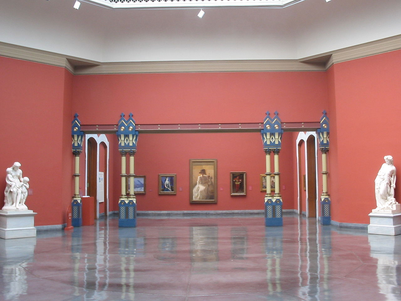 Some of the open exhibit space within the Academy that also doubles as an event space.