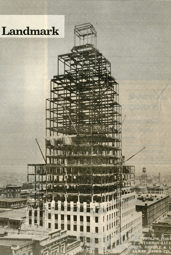 The Reynolds Building being constructed