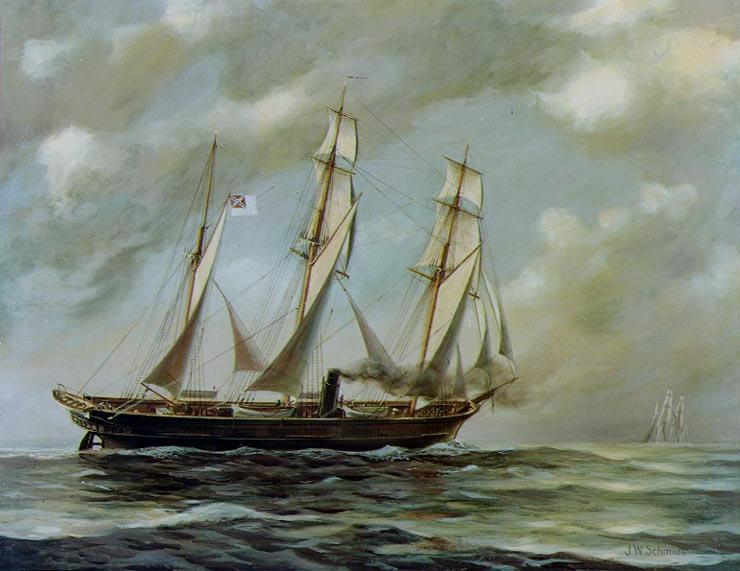 Painting of the CSS Alabama.