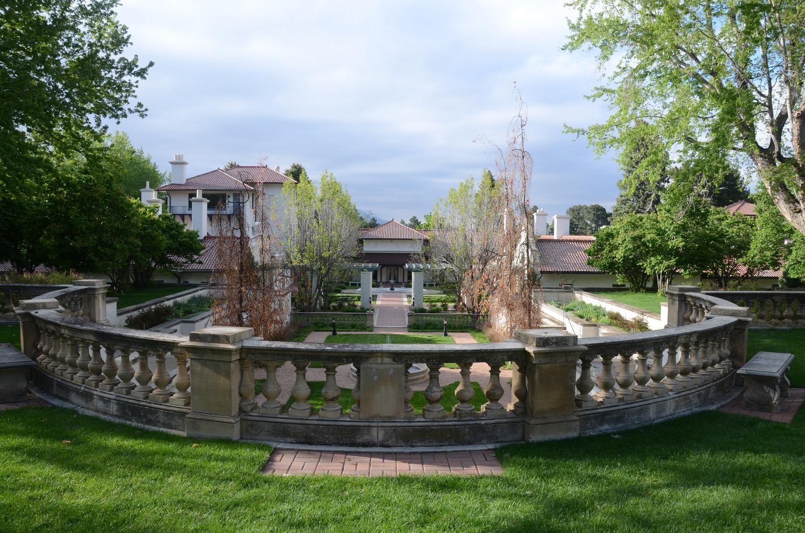 The estate gardens