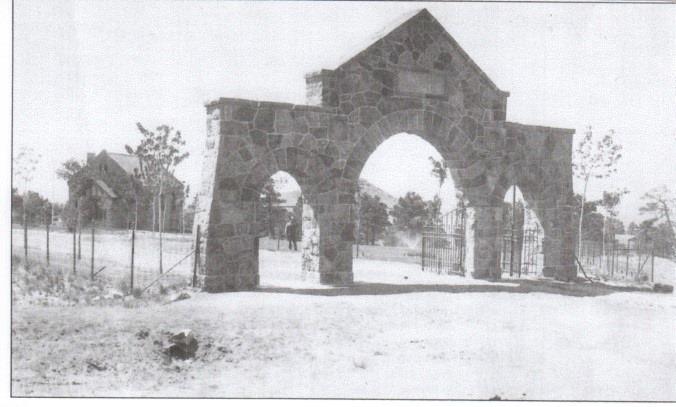Original entryway to Evergreen. Circa 1880s