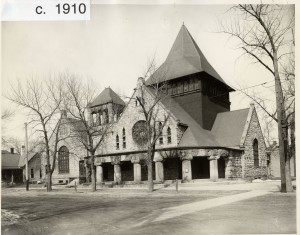 First Congregational Church as it looked in 1910