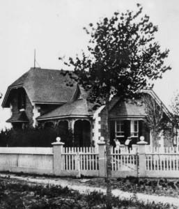 Circa 1875 photo of the house