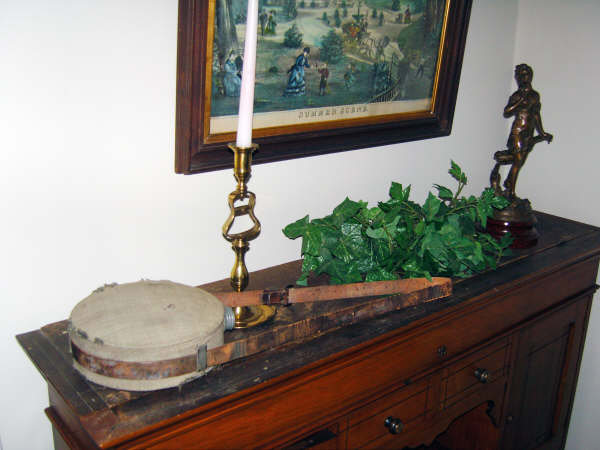 Preserved canteen used by McAllister during the Civil War