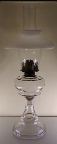 Oil lamp made by the Scovill Manufacturing Co around 1915. A lamp like this would have been used by the Lembcke family in the years leading up to the war
