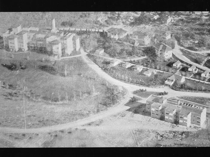 Aerial view of Cragmor in the 1930s. Courtesy of UCCS