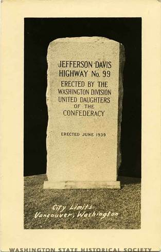 The marker as it looked in 1939 when it was first erected
