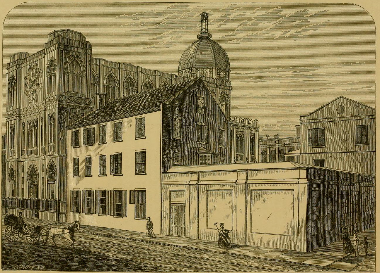 "Church of the Immaculate Conception, illustrated in ""Jewell's Crescent City Illustrated,""1873."