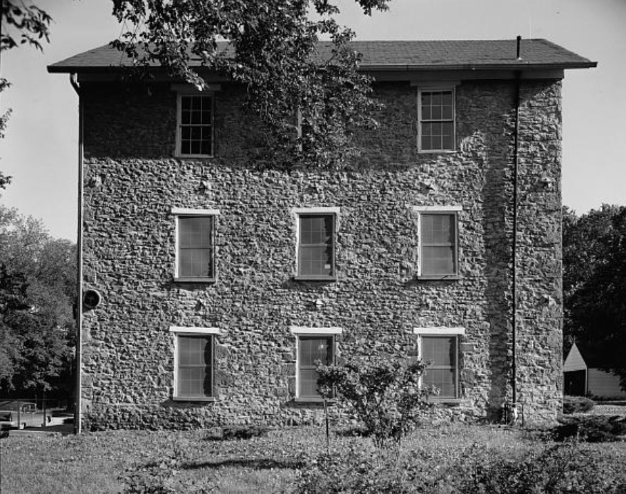 1958 HABS photo of north facade of Old Castle Hall by Douglas McCleery (Library of Congress)