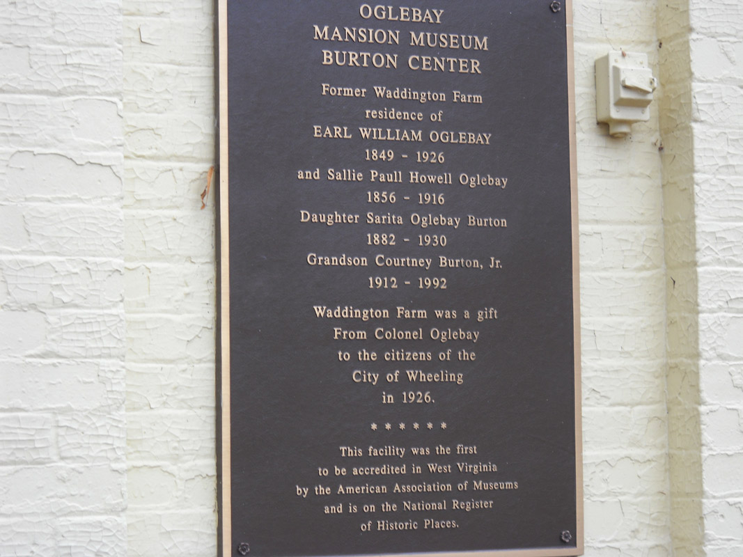 Plaque with a brief history of the museum