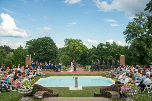 Sunken Garden during a wedding reception