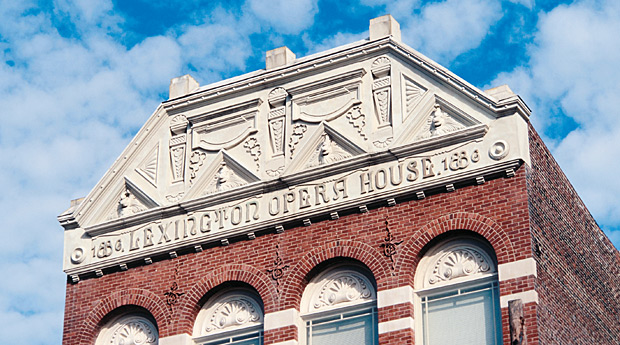 The Lexington Opera House was built in 1886 and renovated in 1976.