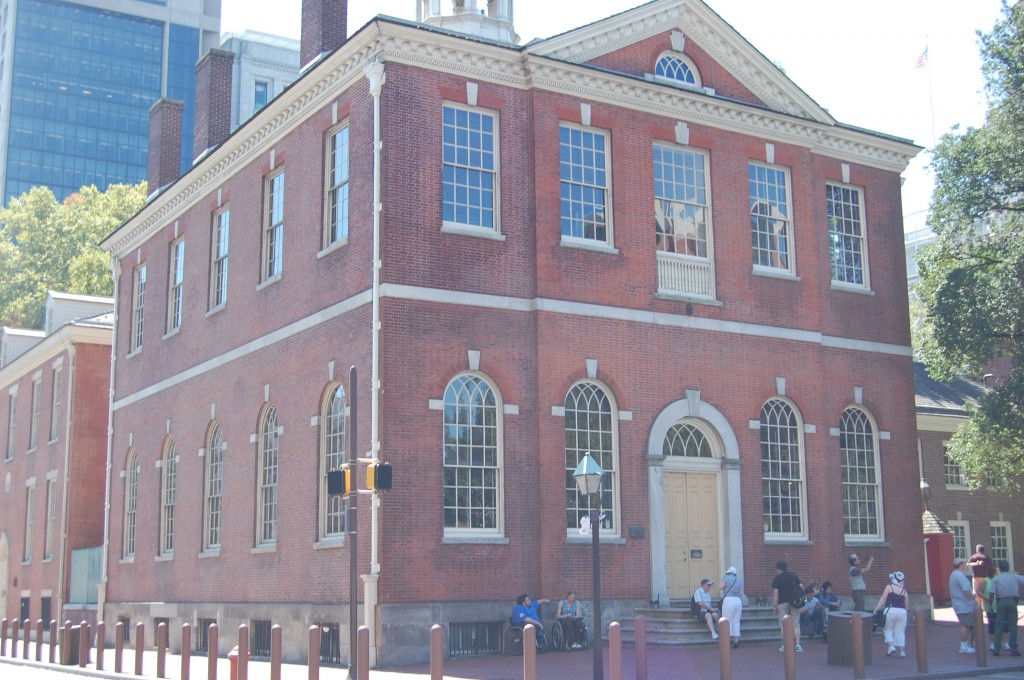 Old City Hall has sat at the corner of 5th and Chestnut Streets since 1791.  It was home to both city hall and the U.S. Supreme Court from 1791 to 1800.