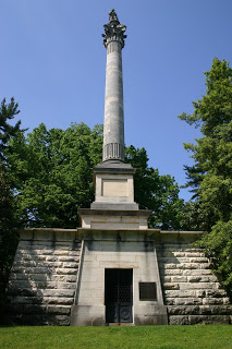 A monument for Henry Clay located in the Lexington Cemetery. Henry Clay is one of several notable Kentuckians buried here.