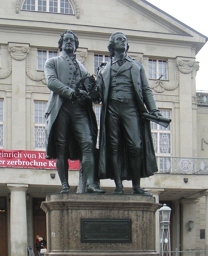Goethe-Schiller Monument (1857), Weimar