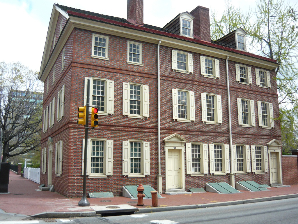 The Dolley Todd House sits at the corner of 4th and Walnut Streets in the city's Society Hill neighborhood.  The Todds resided here from 1791-1793 and James Madison courted Dolley here after the death of her first husband.