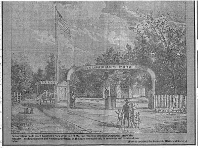 The park's entrance as it once looked.