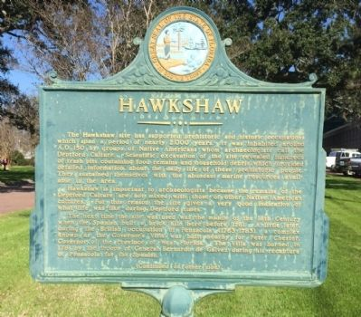 The historical marker. Photo by: Mark Hilton