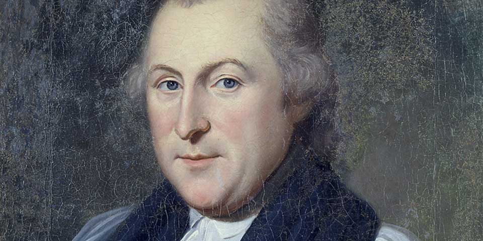 A painting of Bishop White by famous portrait artist, Charles Wilson Peale, done in 1788.