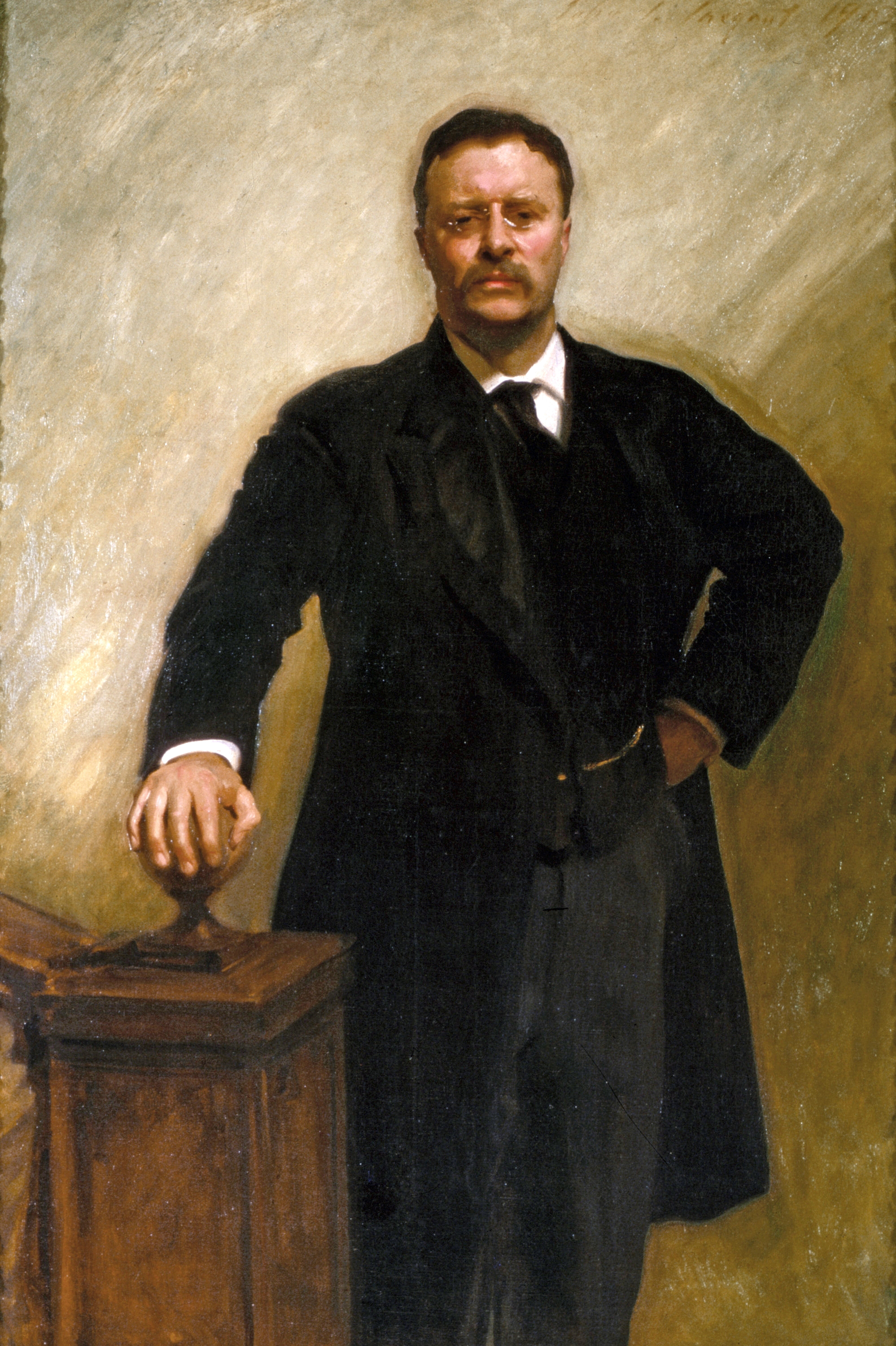 Official White House Portrait of Theodore Roosevelt By John Singer Sargent; image courtesy of the The White House Historical Association