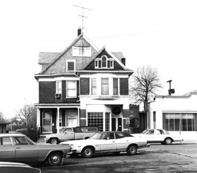 Detail from photo of Eli Hoover House and Confectionery (building #307, photo#65) from the NRHP MRA nomination (1988)
