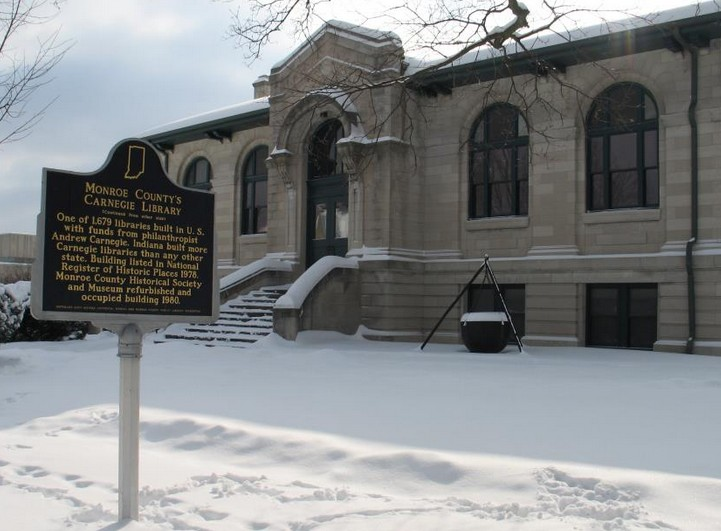The Monroe County History Center, formerly the Bloomington Public Library built in 1917.