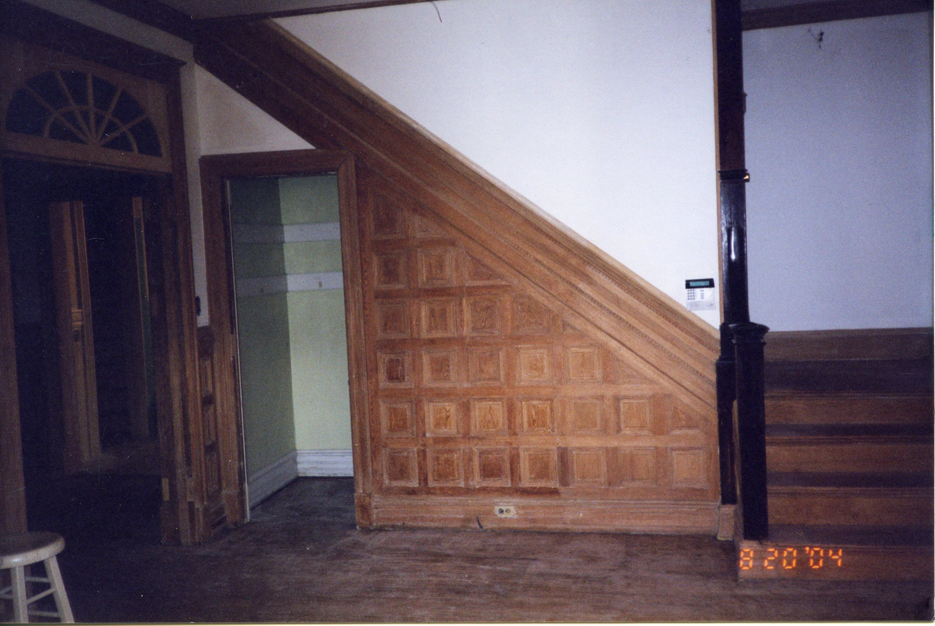 Foyer Staircase during restoration efforts (2004)