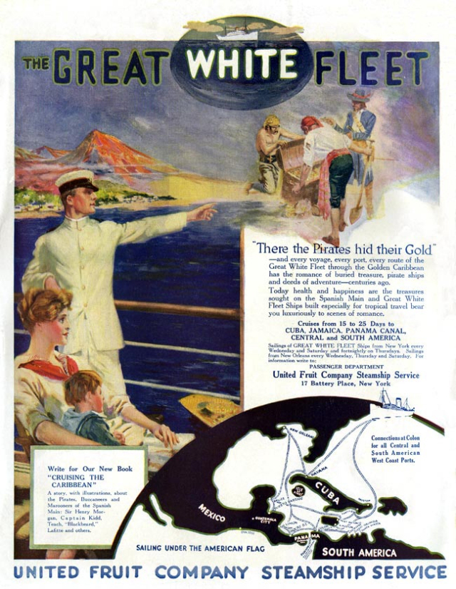 "The company operated a steamship known as ""the Great White Fleet"" that included luxury accommodations for US travelers to Latin America. In the early 1900s, a US Navy fleet that completed an around-the-world mission was also known by this name."