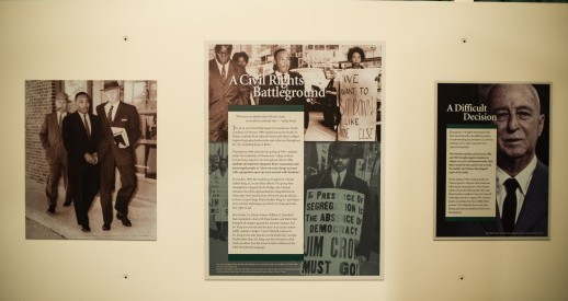 An exhibit at the Bremen Museum in Atlanta shares the history of the sit-ins at the Magnolia Room.