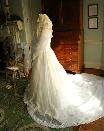 This bridal gown was shown during the mansion's Victorian Wedding exhibit.
