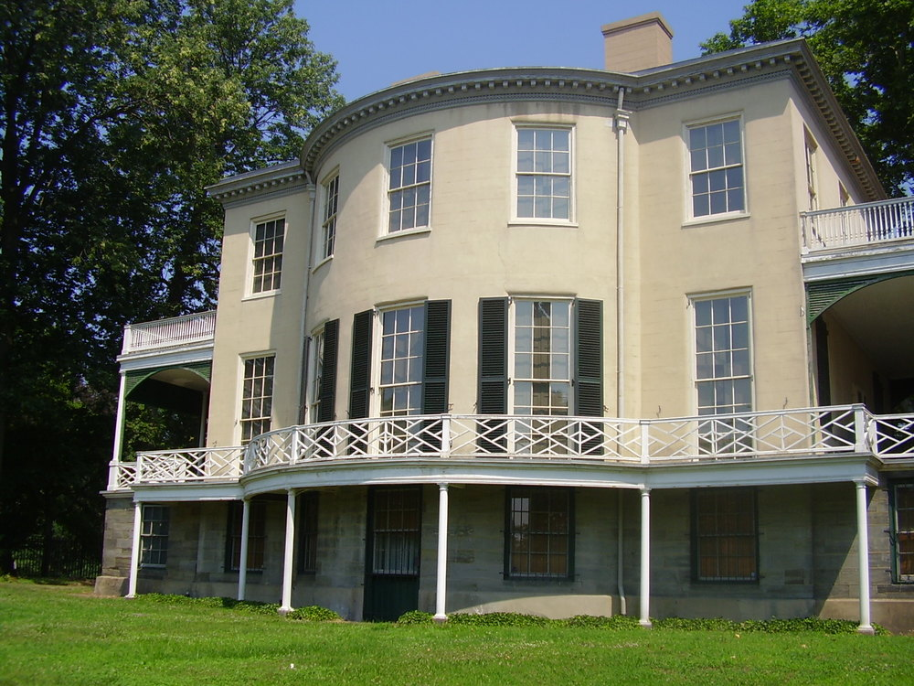 Lemon Hill's distinctive curved front was designed by the home's builder and first owner, Henry Pratt.
