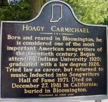 Hoagy Carmichael left his mark on not only Indiana's music scene but the world's as well. He was a twentieth-century renaissance man, dabbling in a variety of the arts rather than stick to a particular niche.