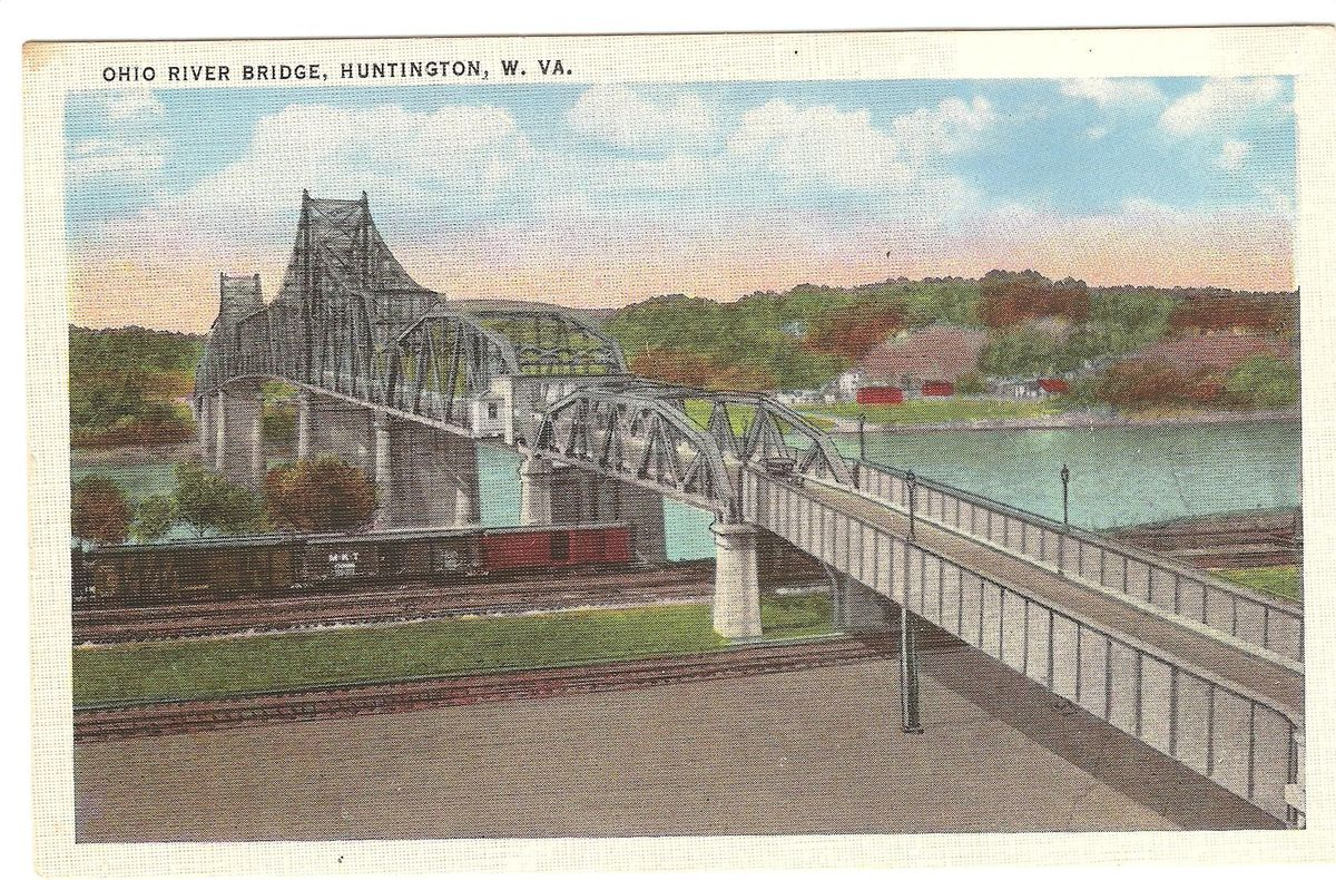 Postcard of the bridge in 1926