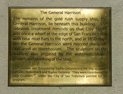 The Ship General Harrison Historical Marker