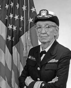 Photograph of Grace Hopper, courtesy of the U.S. Navy.