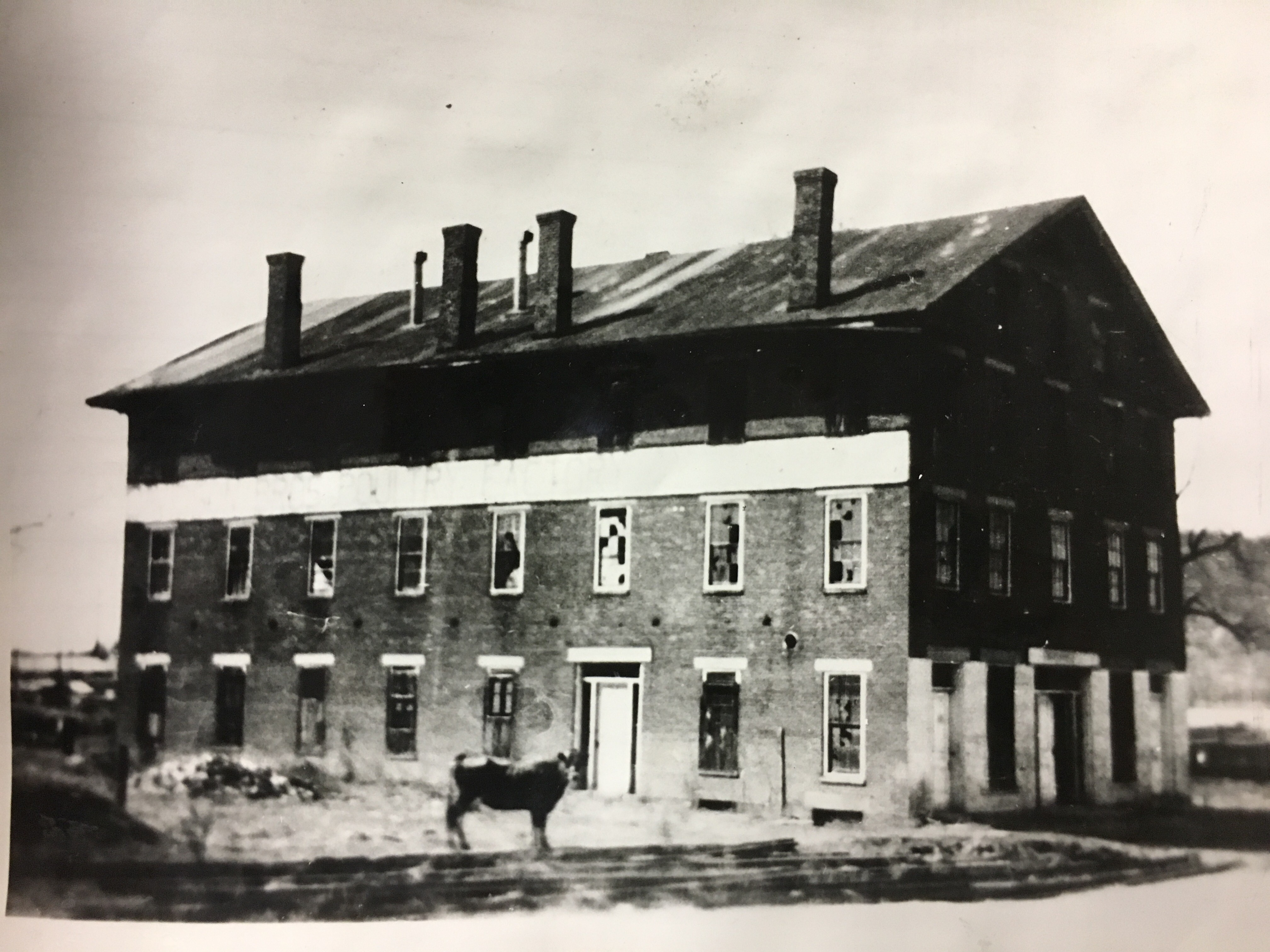 Built in 1857 as a hotel near the 300 block East of B Street, this building was converted into Col. Zeigler's headquarters as well as a hospital and prison on the upper floors. The building was badly damaged in the 1937 flood and razed.