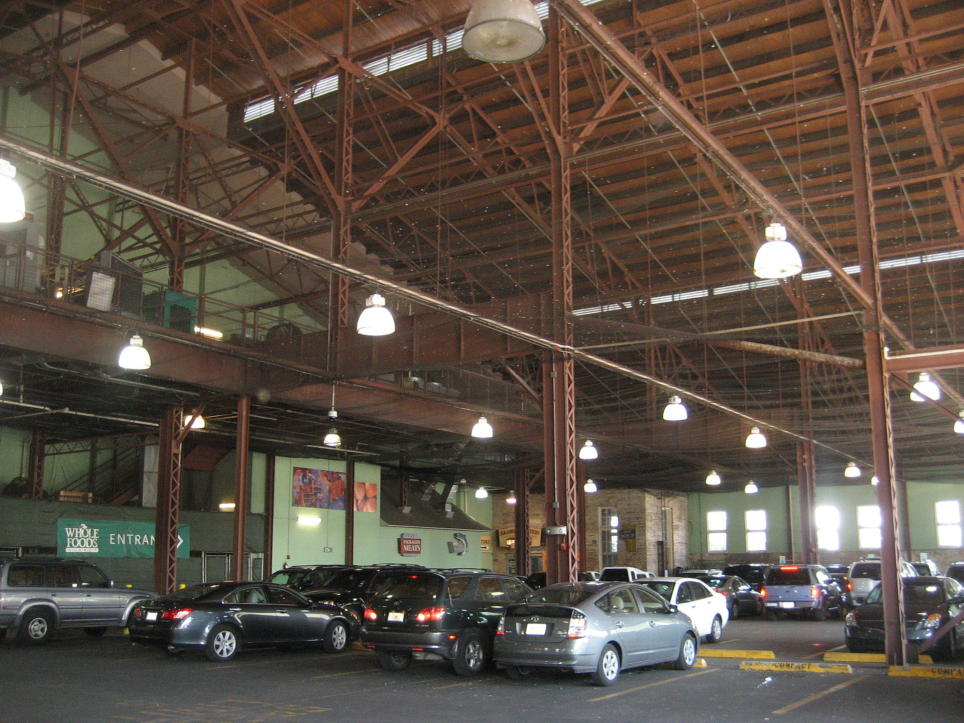 This part of the station, on the southern side, serves as a parking lot for the store.