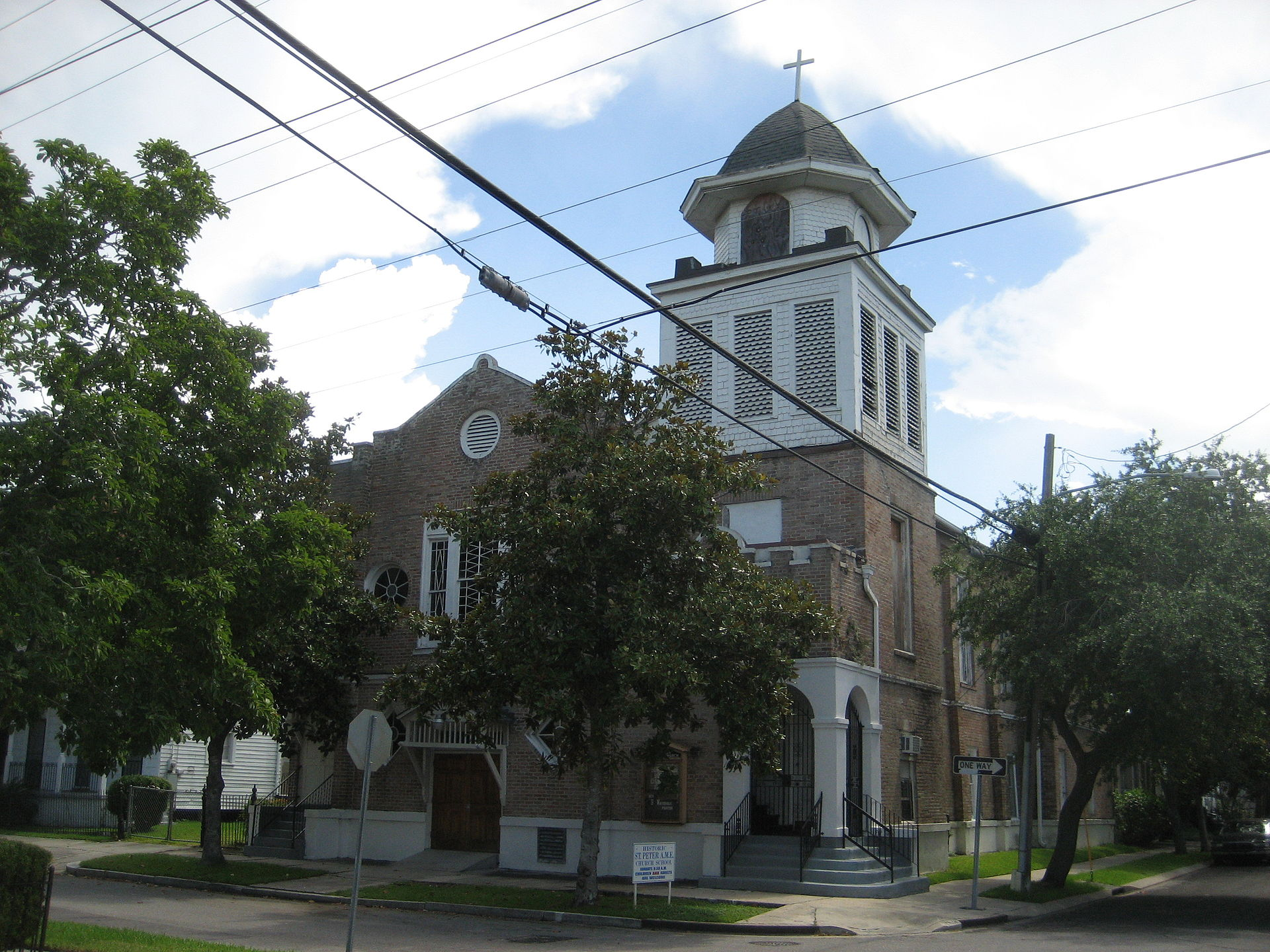 St. Peter A.M.E. Church was originally built in 1858 and is one of the oldest black churches in the city.