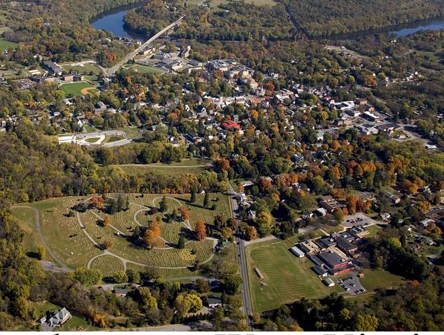 Aerial View of Elmwood Cemetery (Lower Left corner)