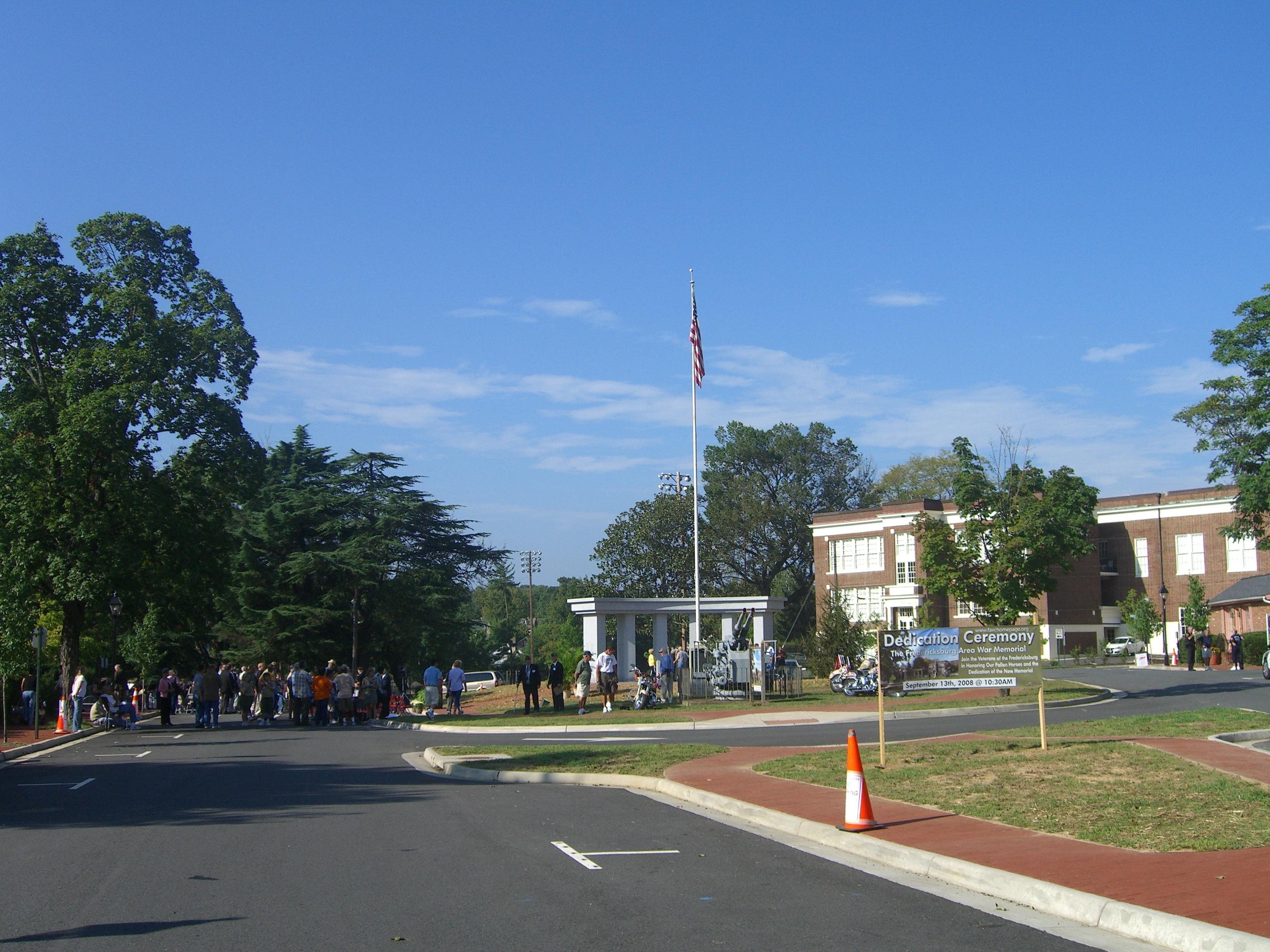 The dedication of the Fredericksburg Area War Memorial on September 13th, 2008