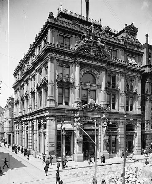 This ornate building was the Cotton Exchange's second home from 1883 to 1920 when it was demolished due to structural problems.